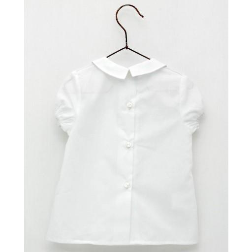 Camisa Foque bebé cuello batista color blanco.  [1]