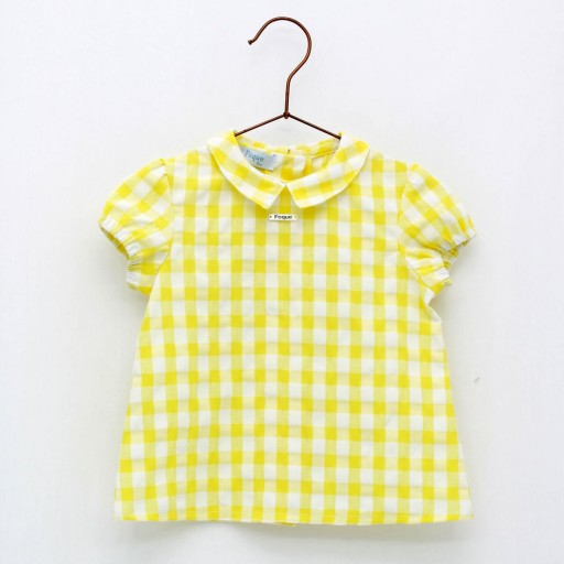 Camisa Foque sersuker color amarillo colección sun flower.