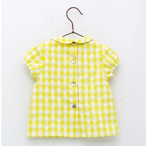Camisa Foque sersuker color amarillo colección sun flower.  [1]