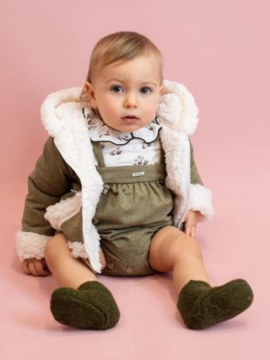 Abrigo Foque con capucha colección veterinario color verde caza.  [2]