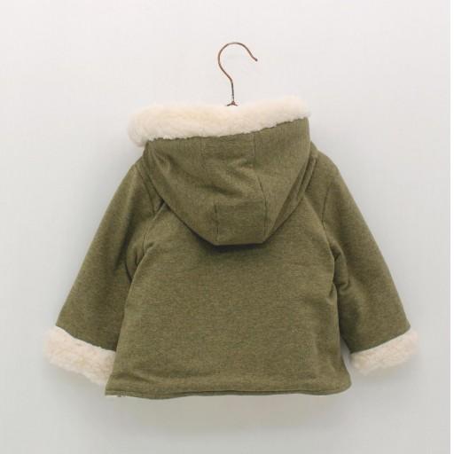 Abrigo Foque con capucha colección veterinario color verde caza.  [1]