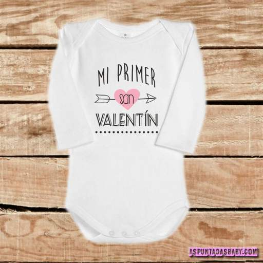 Body bebé mod. Mi primer San Valentín (flecha rosa)