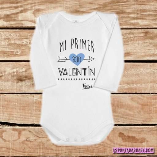 Body bebé mod. Mi primer San Valentín (flecha azul) [1]
