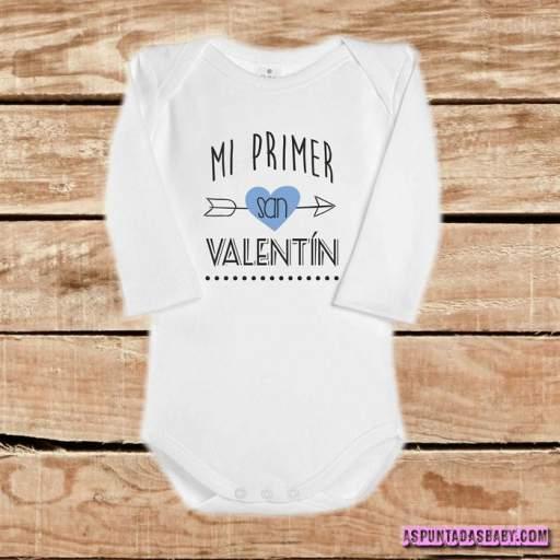 Body bebé mod. Mi primer San Valentín (flecha azul)