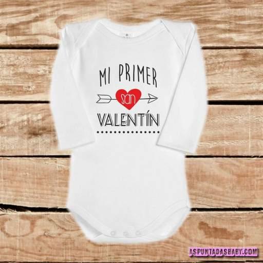 Body bebé mod. Mi primer San Valentín (flecha roja)