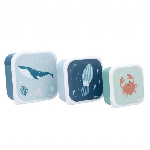 3 Cajas Almuerzo Ocean Tutete