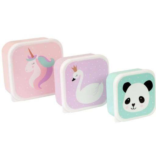 3 Cajas Almuerzo Unicornio y Amigos