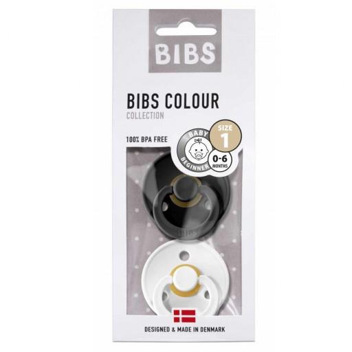 2 Chupetes BIBS Colours Black/White [2]