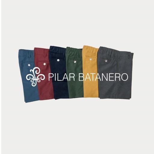 Pantalón chino sarga básico Pilar Batanero color ocre.