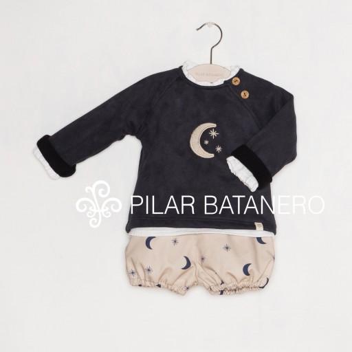 Jersey Pilar Batanero mod. Luna color marino.