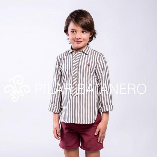 Camisa Pilar Batanero mod. Rayas carbón. [0]