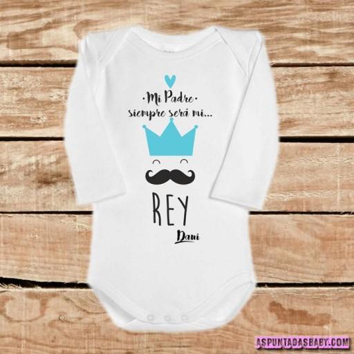 """Body bebé mod. Mi padré siempre será mi """"Rey"""" color azul [1]"""
