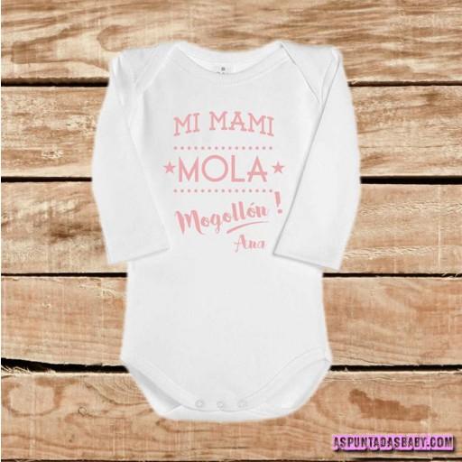 Body bebé mod. Mi mami mola mogollón (rosa) [1]