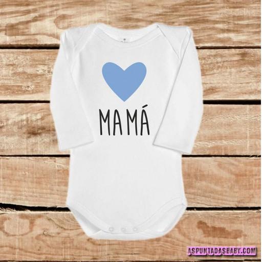Body bebé mod. I Love Mamá (azul) [1]
