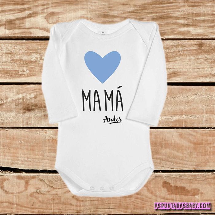 Body bebé mod. I Love Mamá (azul)