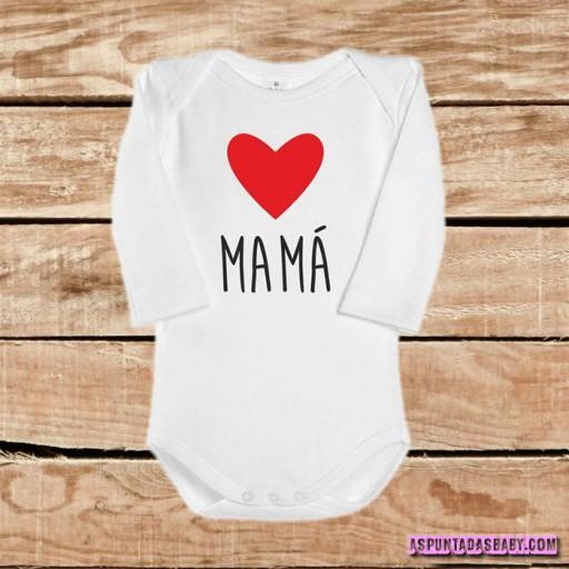 Body bebé mod. I Love Mamá (rojo) [1]
