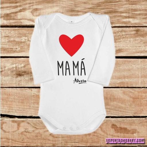 Body bebé mod. I Love Mamá (rojo)