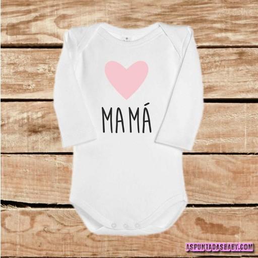 Body bebé mod. I Love Mamá (rosa) [1]