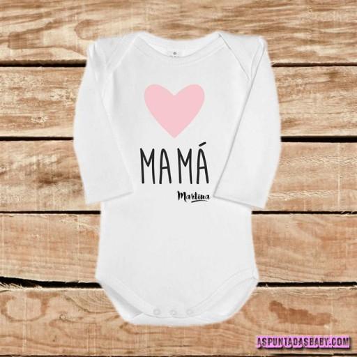 Body bebé mod. I Love Mamá (rosa)