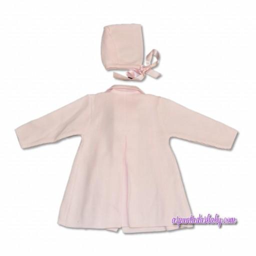 """Abrigo y capota """"Creaciones Cha-O"""" color rosa.  [1]"""