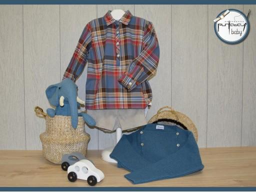 Camisa Ancar cuadros escoceses color azul-burdeos [1]