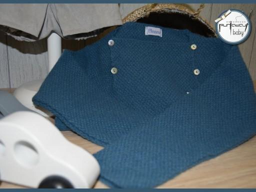 Jersey Ancar cuatro botones color azul oceano.  [1]