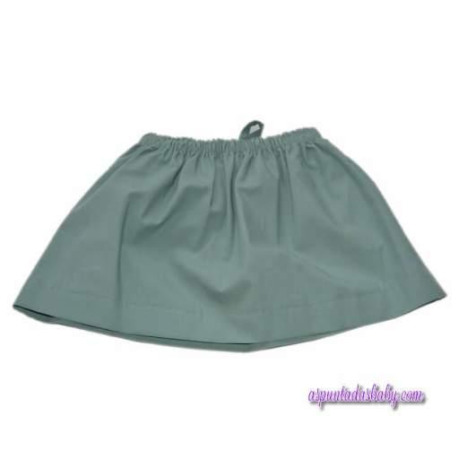 Falda Ancar color verde loneta.