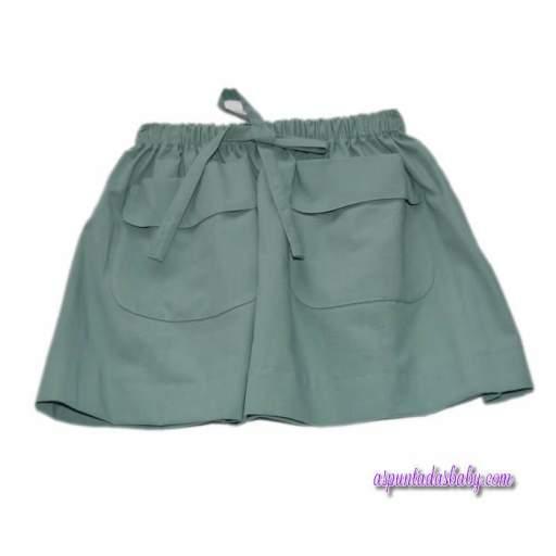 Falda Ancar color verde loneta.  [1]