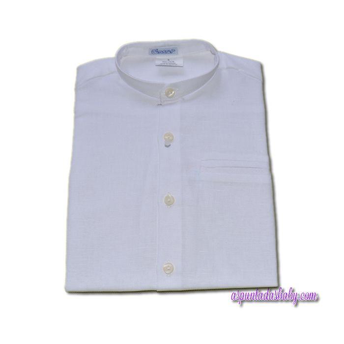 Camisa Ancar cuello mao. color blanco.