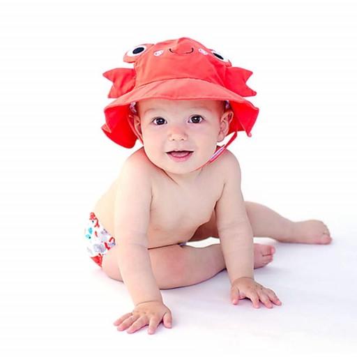 Set Bañador de Pañal y Sombrero Zoocchini mod. Cangrejo [1]