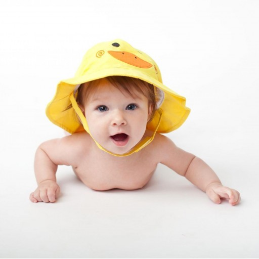 Set Bañador de Pañal y Sombrero Zoocchini mod. Pato [1]