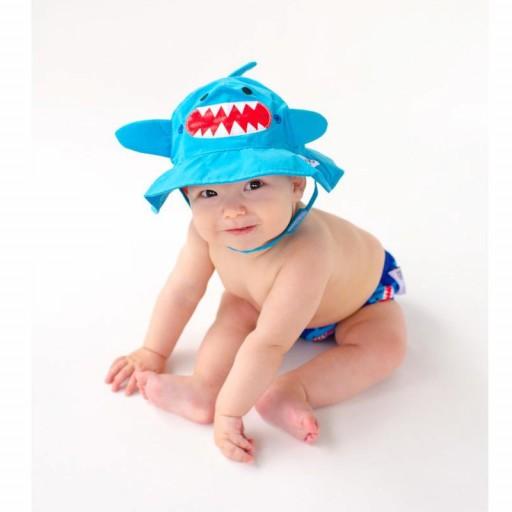 Set Bañador de Pañal y Sombrero Zoocchini mod. Tiburón  [1]