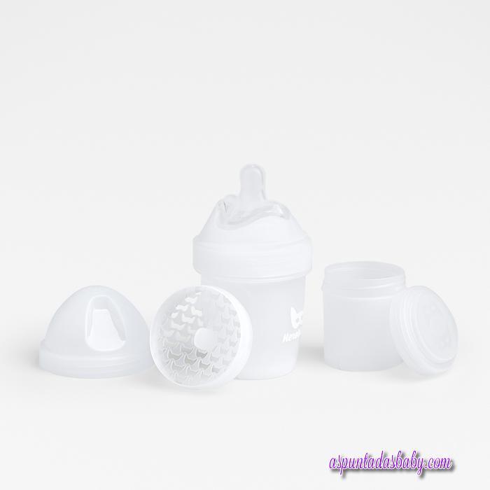 Biberon Herobility 140 ml. color blanco.