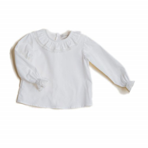 ​Blusa César Blanco color crudo.