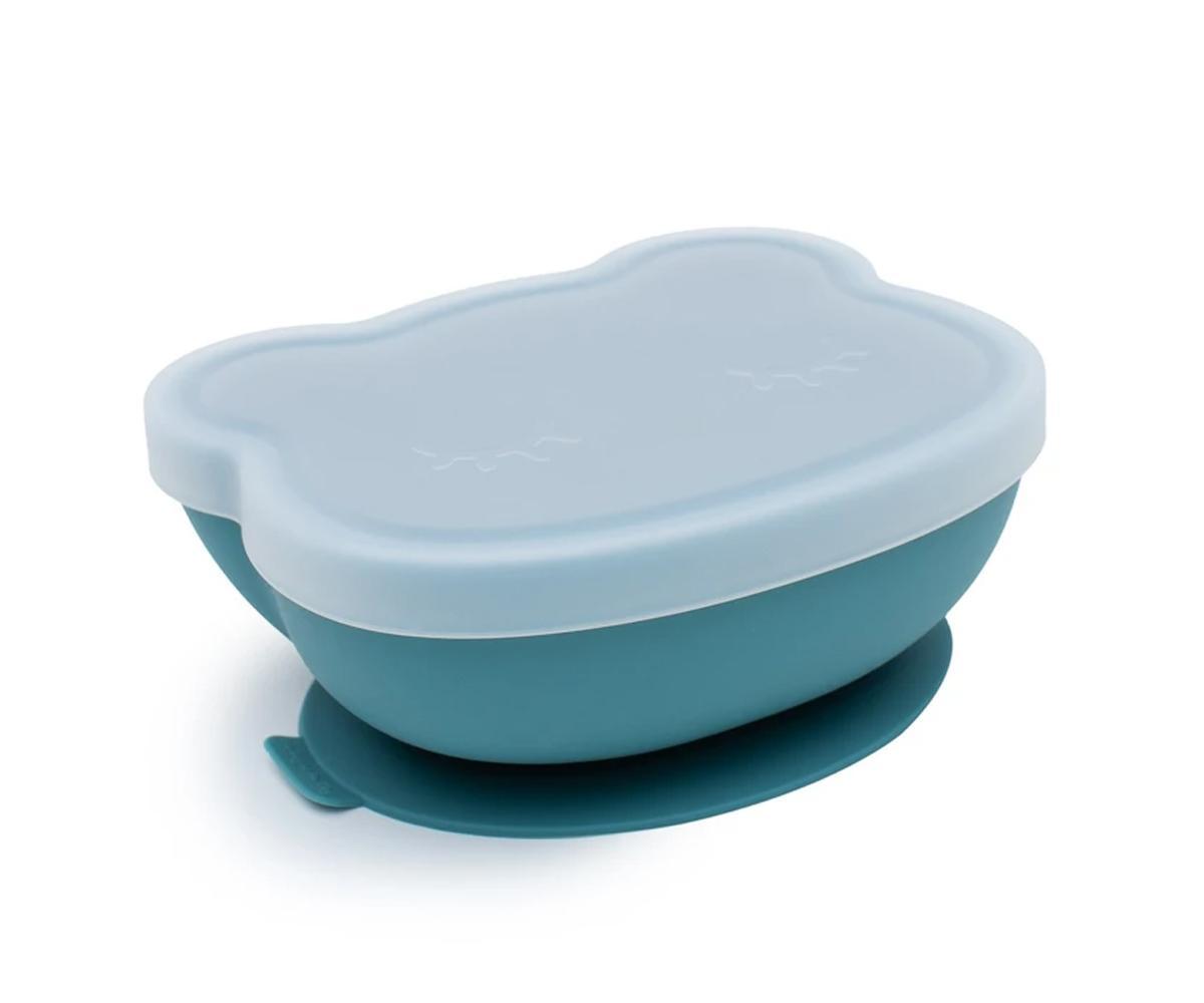Bol con Ventosa y Tapa Oso Azul dusk