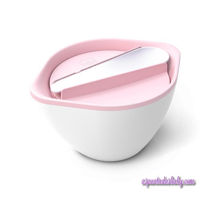 Bol Monbento Color Blanco/Rosa Pastel.