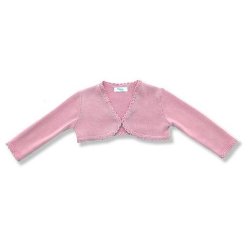 Bolero De Punto Foque Niña Puntas Redondas Color Rosa