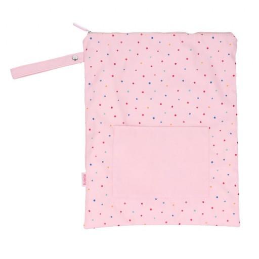 Bolsa Impermeable Grande Dots Pink