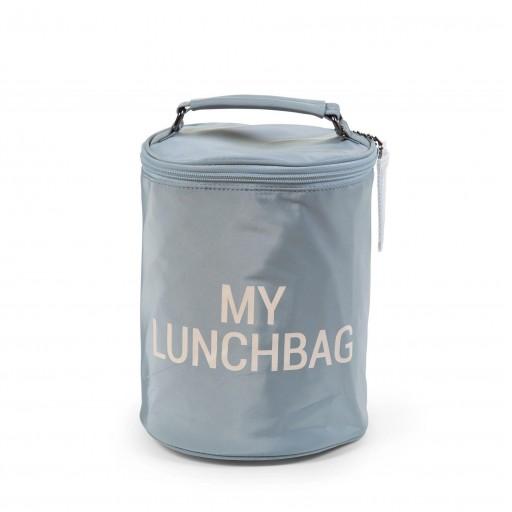 Bolso almuerzo cilíndrico térmico Childhome gris