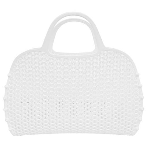 Bolso Plástico Retro Vintage blanca [0]
