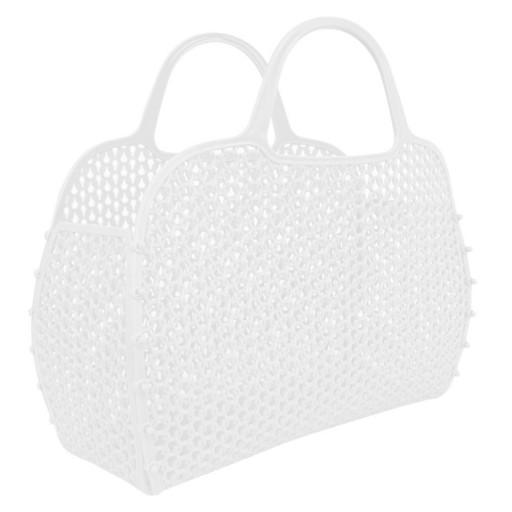 Bolso Plástico Retro Vintage blanca [1]