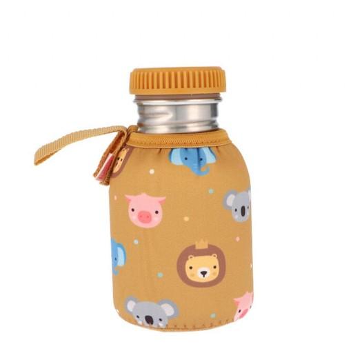 Botella Acero con Funda Animal Friends 350 ml.