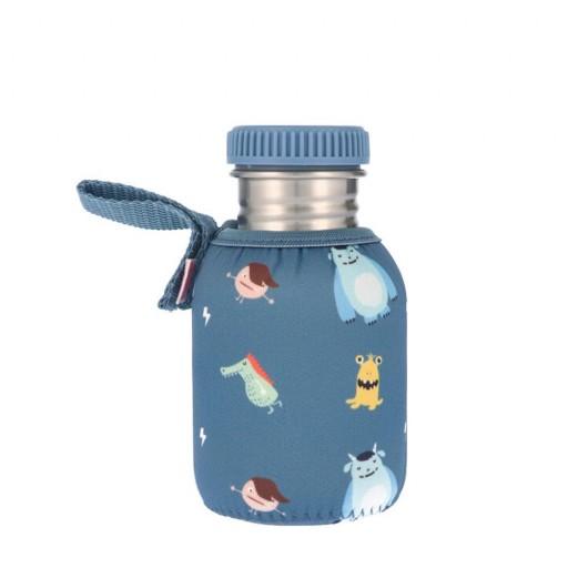 Botella Acero con Funda Little Monsters 350 ml.