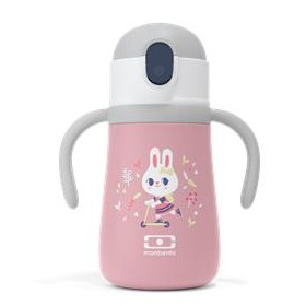 Botella térmica infantil en acero con pajita, Bunny