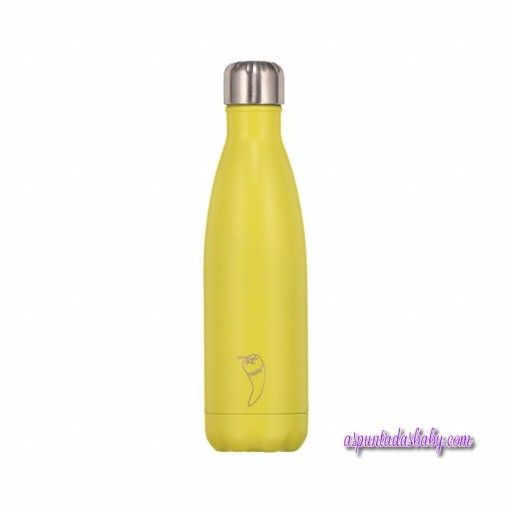 Botella Chilly´s Inox mod. Amarillo neón 500 mL.