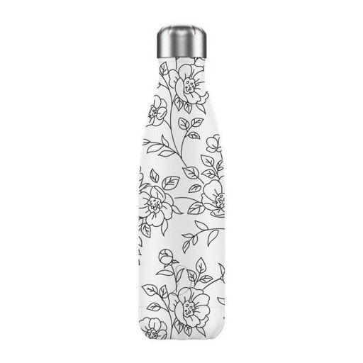 Botella Chilly´s Inox mod. Drawing flores 500 ml