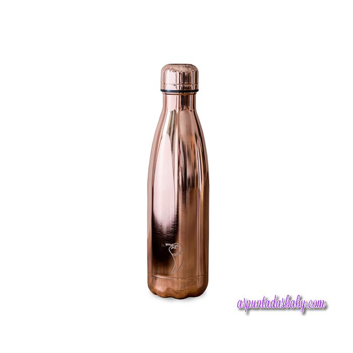 Botella Chilly´s Inox mod. Cromado Oro