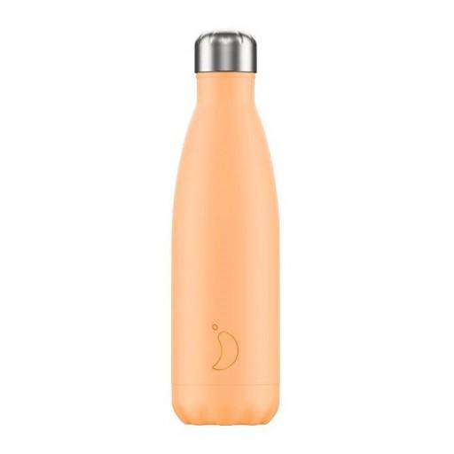 Botella Chilly´s Inox mod. Naranja pastel 500 ml