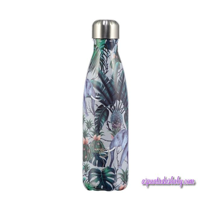 Botella Chilly´s Inox mod.  Tropical Elefante 500 ml.