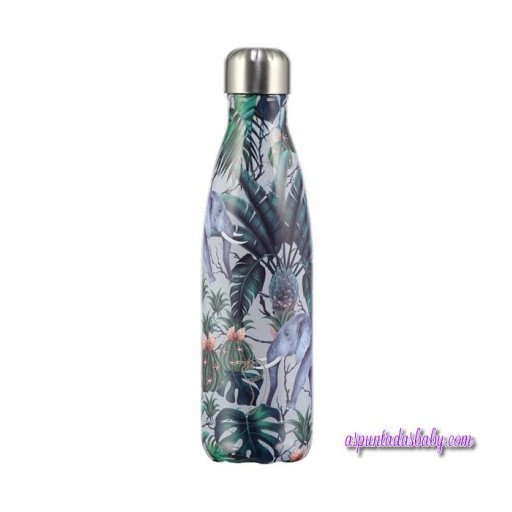 Botella Chilly´s Inox mod.  Tropical Elefante 500 ml.